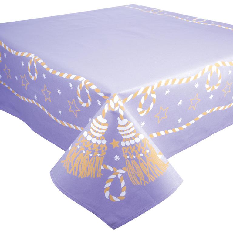 Bavlněný Vánoční ubrus fialový  - 2