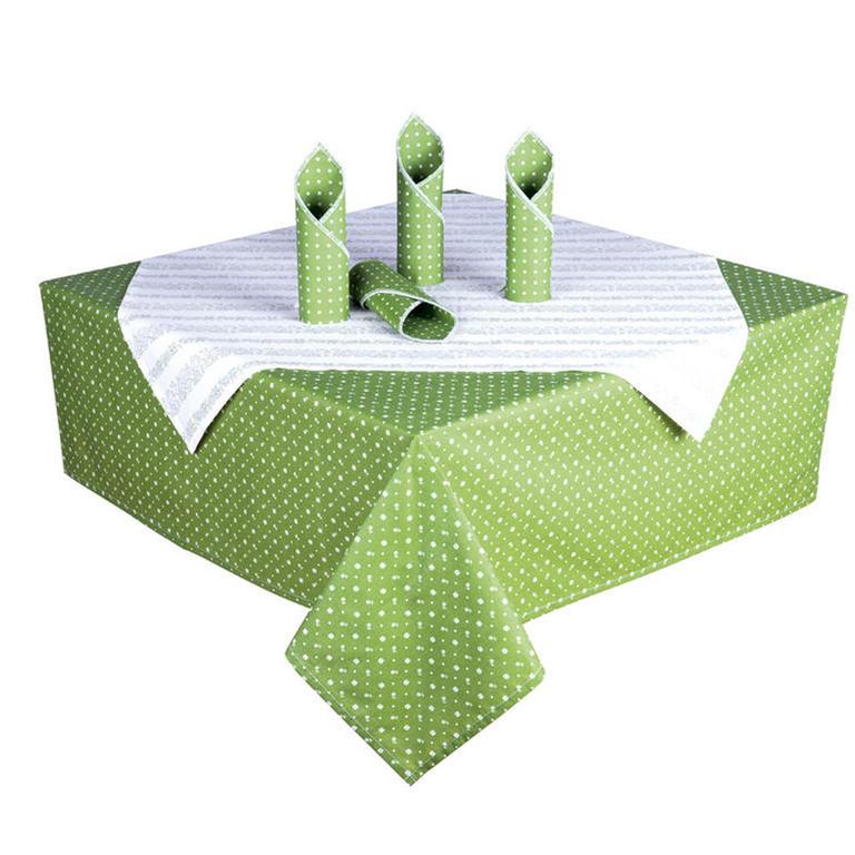 Bavlněné ubrusy s prostíráním Evelina zelená  - 2