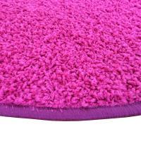 Kulatý koberec SHAGGY růžový - 2/2