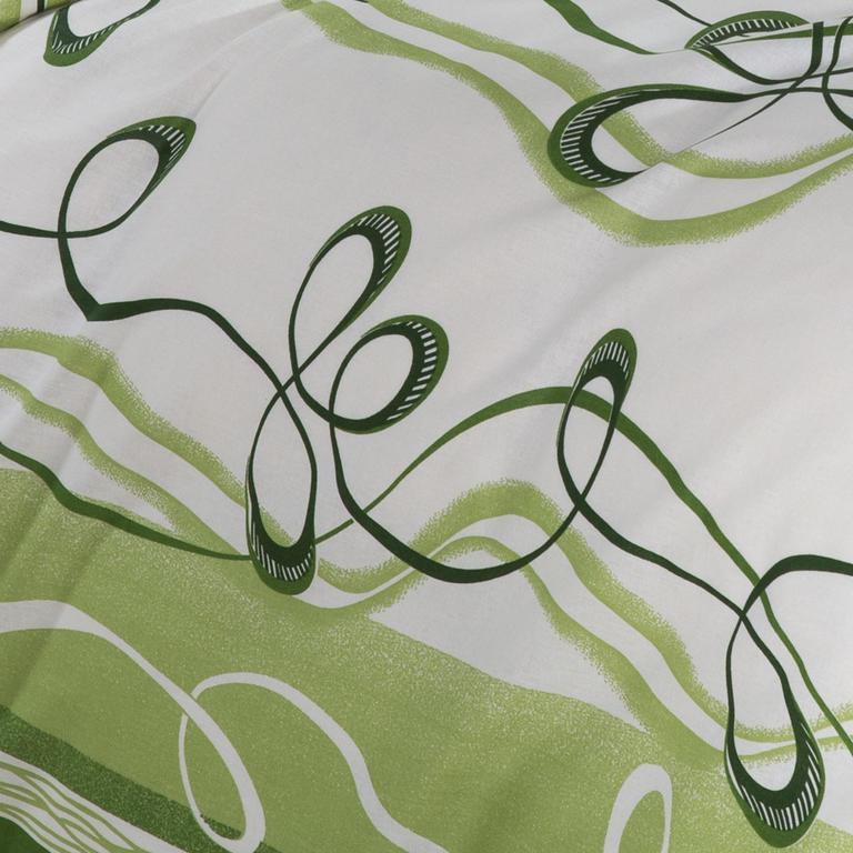 Bavlněné ložní povlečení Twist zelené standardní délka - 2