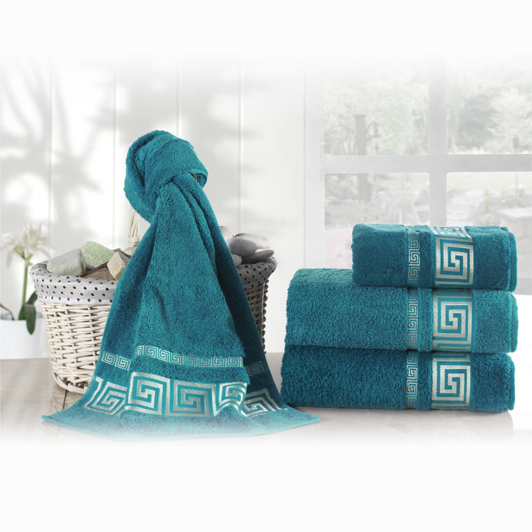 Bambusové ručníky Rome petrolejové  - 2