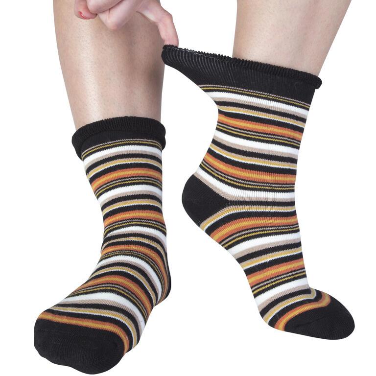 Hřejivé froté ponožky Proužky 5 párů  - 2