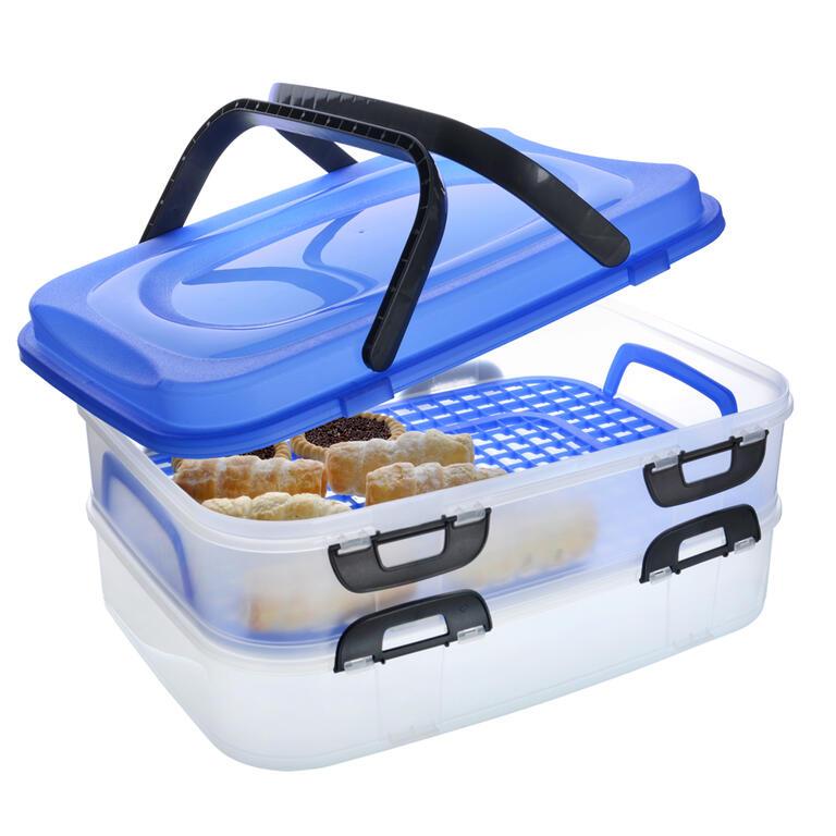 Plastový přenosný box na potraviny 2 patra  - 3