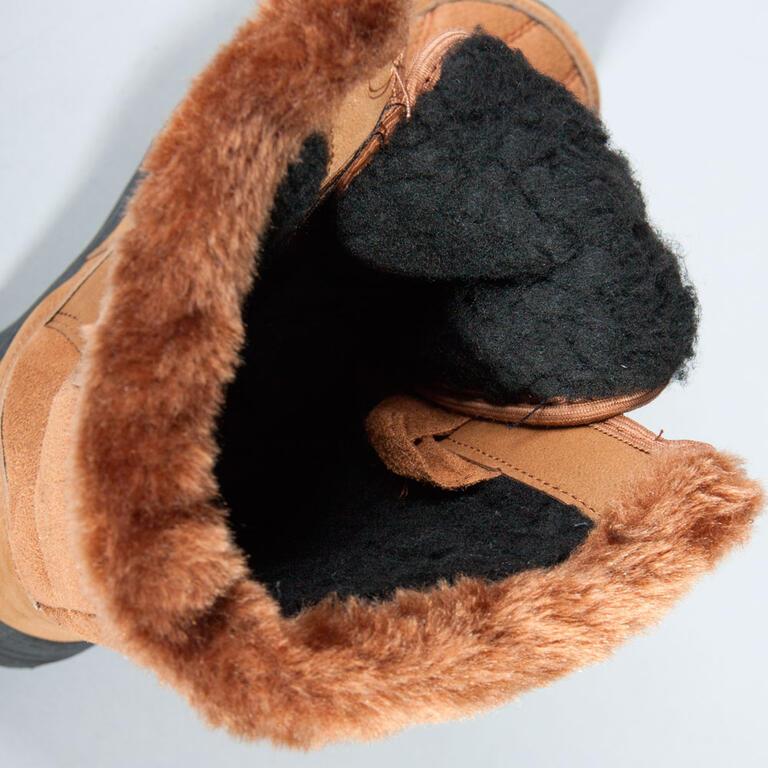 Zimní boty s hřejivým beránkem hnědé vel. 36 - 3