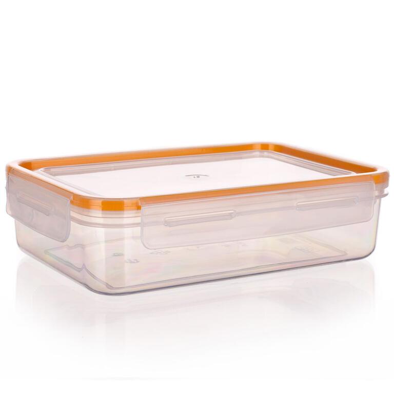 Obdélníková dóza na potraviny Super Click oranžová, BANQUET 2,1 l - 3