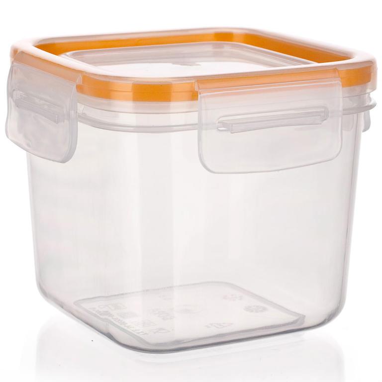 Plastová dóza na potraviny Super Click oranžová, BANQUET  - 3