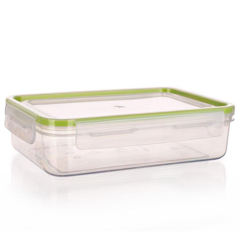 Obdélníková dóza na potraviny Super Click zelená, BANQUET 4,5 l - 3