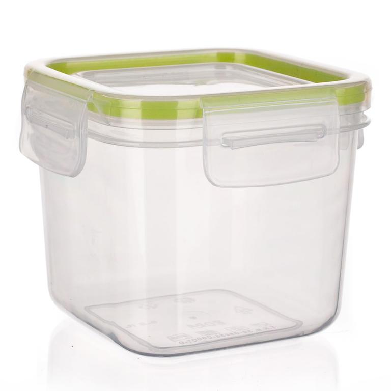 Plastová dóza na potraviny Super Click zelená, BANQUET 1,05 l - 3