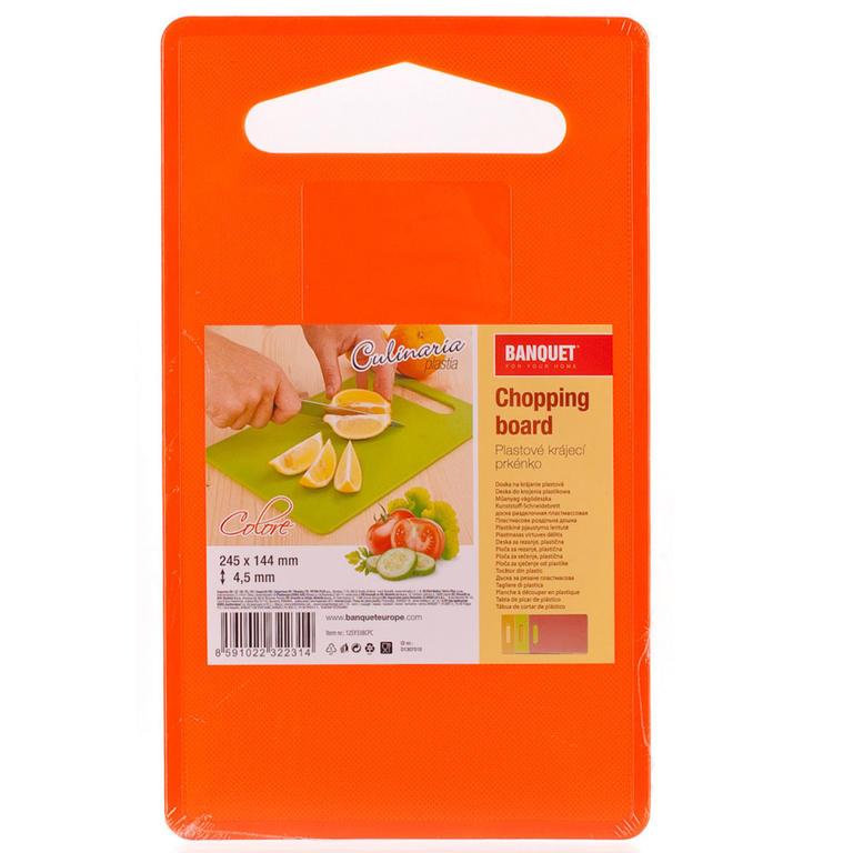 Plastové krájecí prkénko Culinaria Plastia Colore, BANQUET 24,5 x 14,4 x 0,45 cm - 3