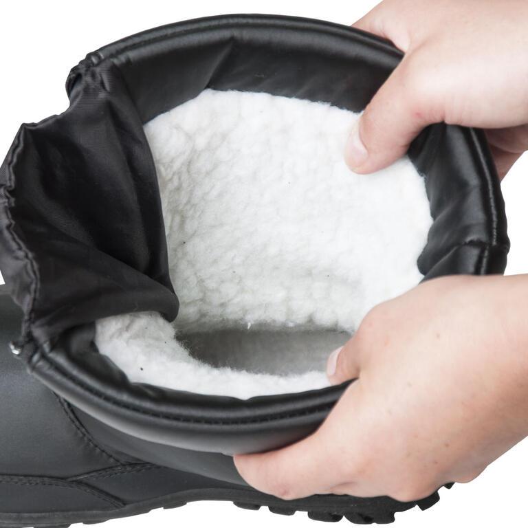 Dámské zimní boty se zipem černé  - 3
