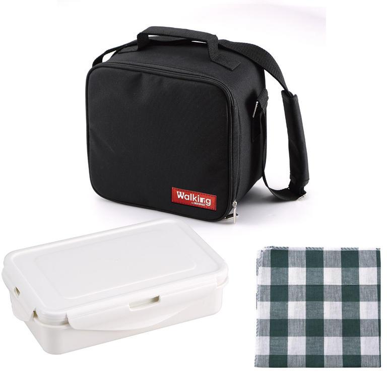 Svačinový box v tašce černá utěrka - 3