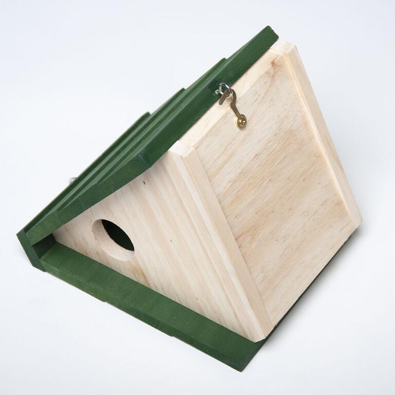 Dřevěné krmítko s úkrytem na klíče  - 3