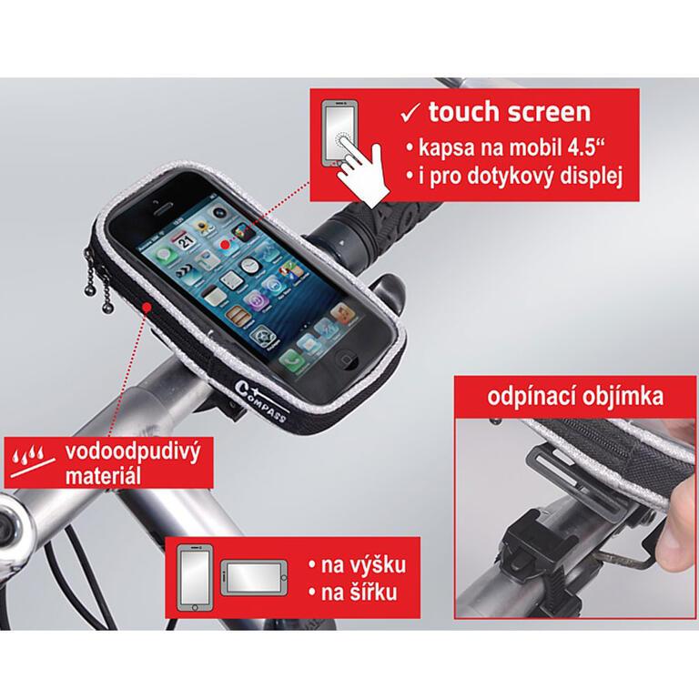 Cyklotaška - pouzdro telefon, Compass  - 3