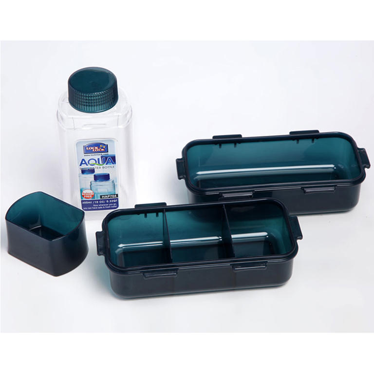 Tečkovaná taška Lunch Boxes modrá  - 3