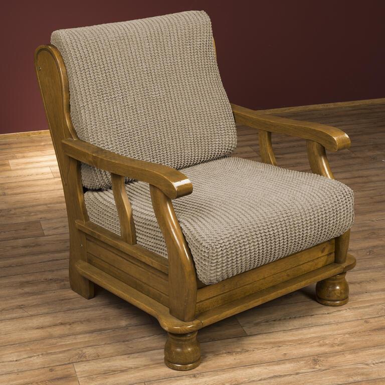 Super strečové potahy GLAMOUR oříškové rohová sedačka (š. 350 - 530 cm) - 3