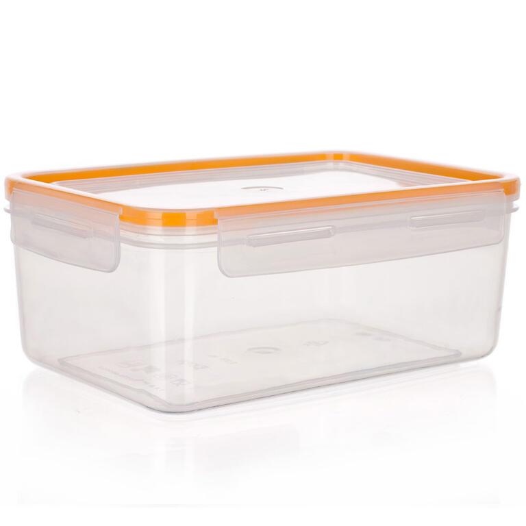 Obdélníková dóza na potraviny Super Click oranžová, BANQUET 2,1 l - 4