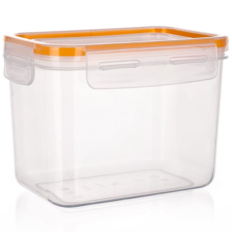 Plastová dóza na potraviny Super Click oranžová, BANQUET  - 4