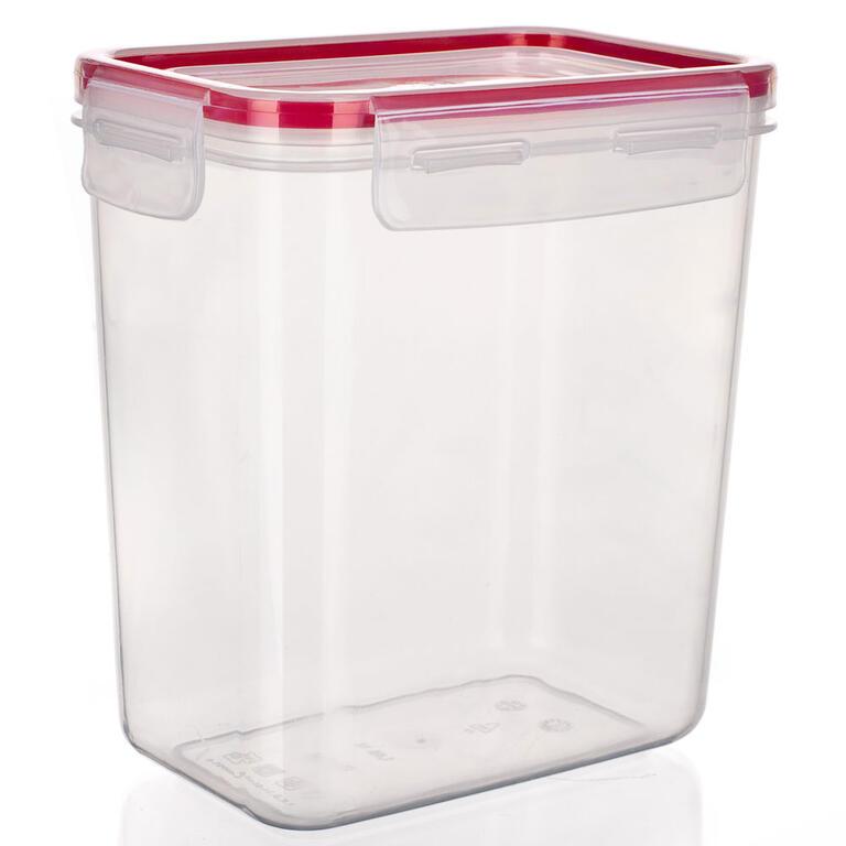Plastová dóza na potraviny Super Click červená, BANQUET  - 5