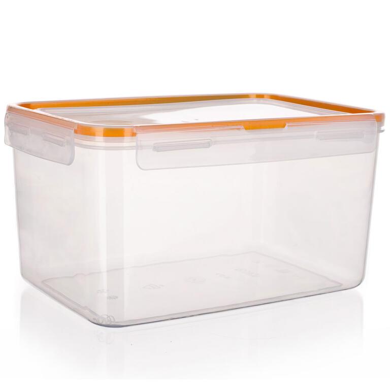 Obdélníková dóza na potraviny Super Click oranžová, BANQUET 2,1 l - 5