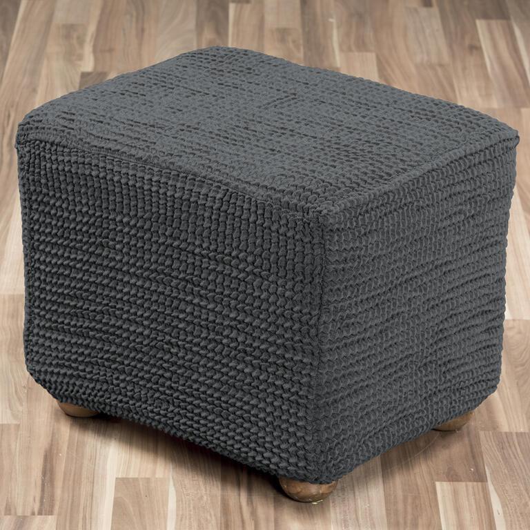 Super strečové potahy GLAMOUR šedé židle s opěradlem 2 ks 40 x 40 x 60 cm - 5