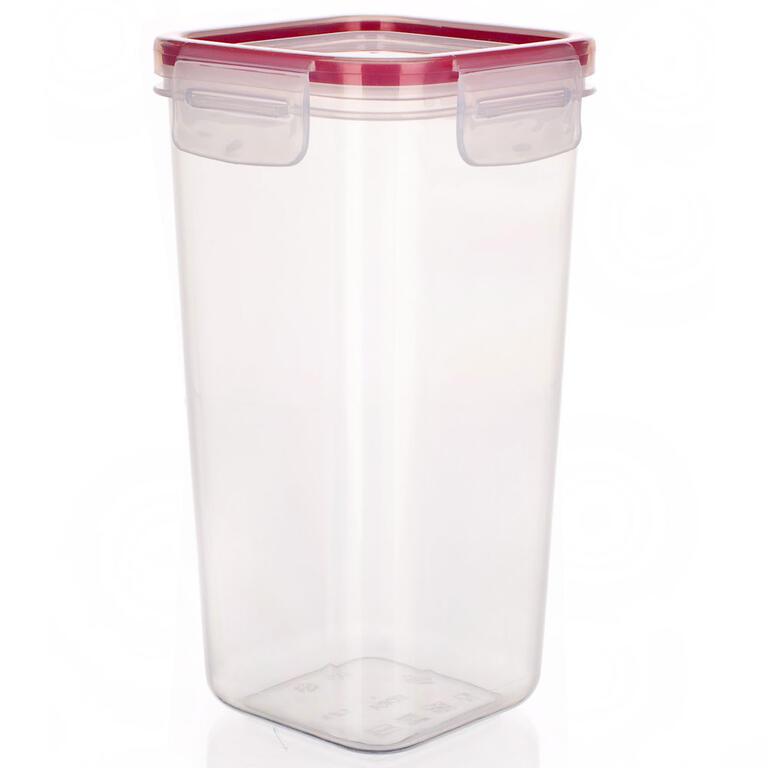 Plastová dóza na potraviny Super Click červená, BANQUET 0,5 l - 6