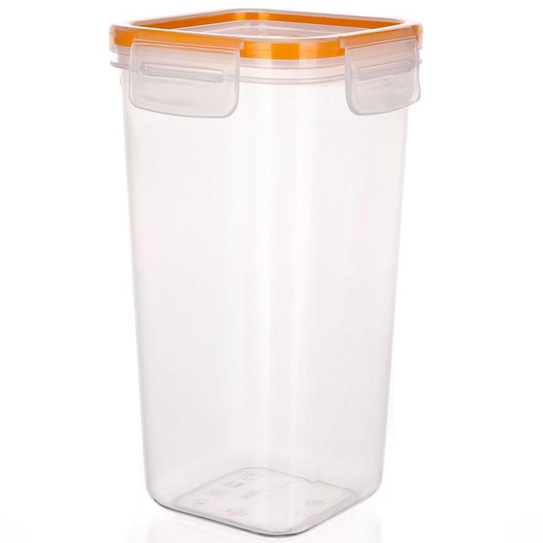Plastová dóza na potraviny Super Click oranžová, BANQUET  - 6