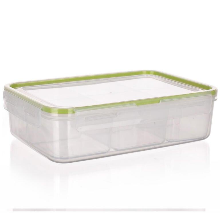 Obdélníková dóza na potraviny Super Click zelená, BANQUET 4,5 l - 6