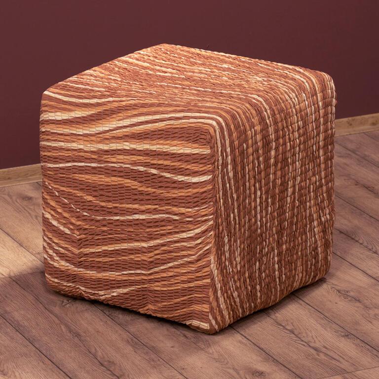 Bielastické potahy UNIVERSO žíhané cihlové rohová sedačka (š. 350 - 530 cm) - 7