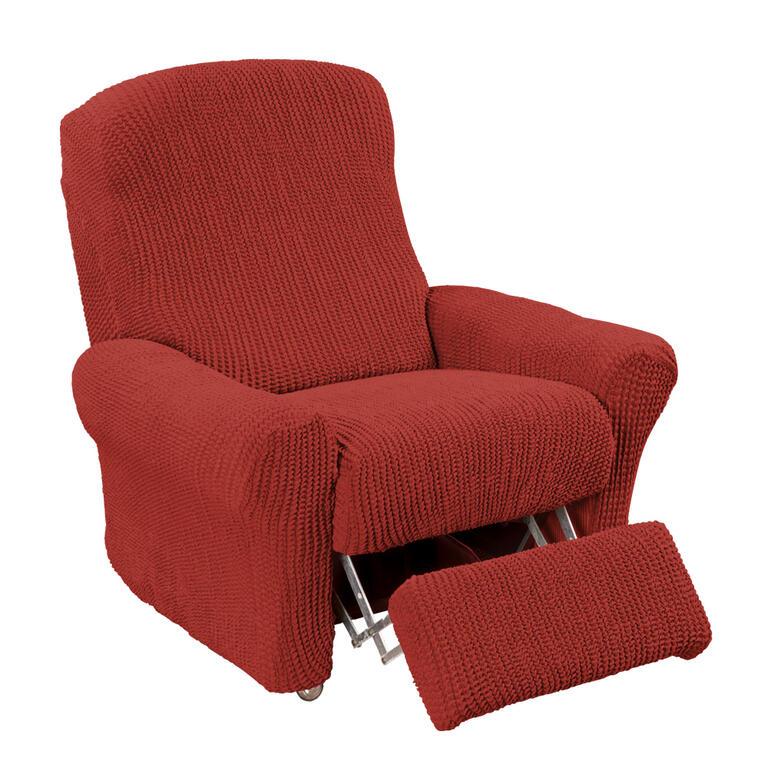 Super strečové potahy GLAMOUR cihlové rohová sedačka (š. 350 - 530 cm) - 7