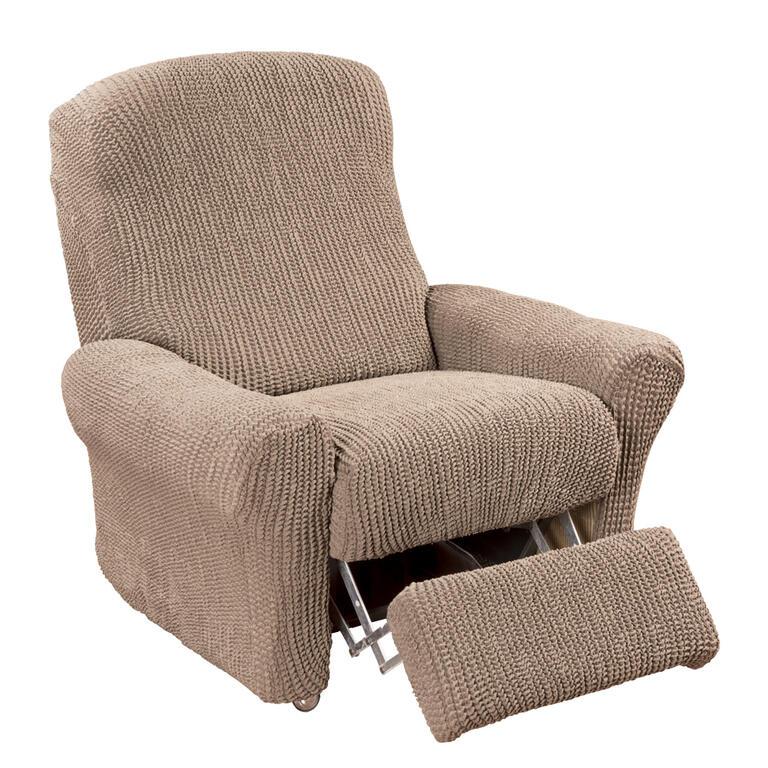 Super strečové potahy GLAMOUR oříškové rohová sedačka (š. 350 - 530 cm) - 7