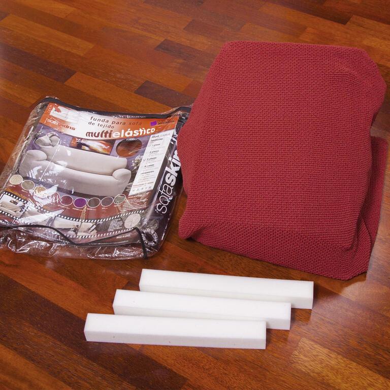 Multielastické potahy CARLA bordó taburet (45 x 45 x 45 cm) - 7