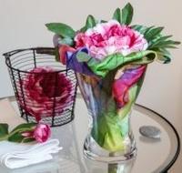 Květinové aranžmá z hedvábí