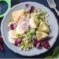 Jarní salát s vajíčky