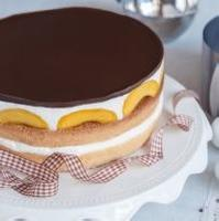 Utajený broskvový dort