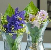 Květiny v kornoutcích