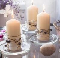 Svíčky s korálky